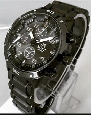 Mens Wrist Watch Black Metal Steel Strap Luxury Classic Casual Sports Smart New