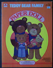 Teddy Bear Family Doll Book, 1980, A Golden Book, 6 pages of cutouts VG+