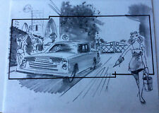 DRAGNET'87 ORIGINAL STORYBOARD ART CARL ALDANA HANKS ACKROYD MOVIE DRIVEWAY GIRL