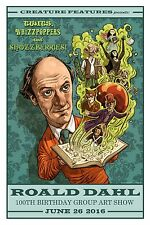 ROALD DAHL Art Print Poster WILLY WONKA James Giant Peach BFG Mr Fox WITCHES