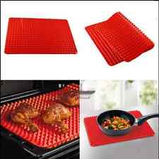Hot 395*285mm Non Stick Fat Reducing Silicone Cooking Mat Oven Baking Sheets UR