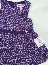 Juicy Couture Baby Girls Dress With Diaper Cover, Size 12/18