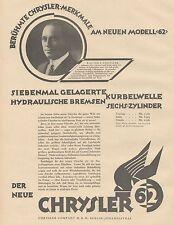 J1128 Automobili CHRYSLER Company - Pubblicità grande formato - 1927 Old advert