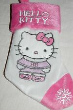 "Hello Kitty Mini Stocking Sanrio Christmas Pink White NWOT Childrens 8"" long"