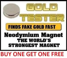 Neodymium Rare Earth Magnet for Testing Scrap Gold, -10mm great bit of kit