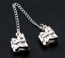 1Pc Silver PLATED Butterfly Stopper Safety Chain Bead Fit Charm Bracelet DIY Hot