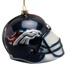Denver Broncos - Glass Helmet Christmas Ornament