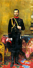 Wonderful Oil painting Ilya Repin - Male portrait Nicholas II standing in studio