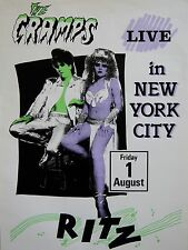 """The Cramps Ritz New York 16"""" x 12"""" Photo Repro Concert Poster"""
