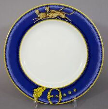 Teller Porcelaine de Paris Limoges, Decor Chasses Royales, Leoparden Motiv D=22