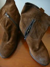 Brand New Tan Brown Genuine Leather Suede Carvela Ankle Boots U.K Size 3 36