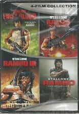 RAMBO 4 Movies Collection- RAMBO 1, 2, 3, 4 Sylvester Stallone BRAND NEW