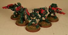 warhammer 40k Space Marine Dark Angels Army Devastator Squad painted figures 1