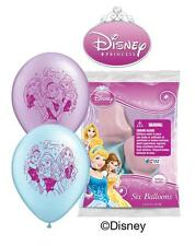 "6 pc 12"" Disney Princess Party Latex Balloons Happy Birthday Cinderella Belle"