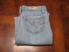 Joy light denim distressed jeans with cute pockets size 5
