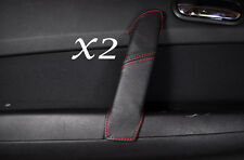 RED STITCHING FITS MAZDA 6 2008-2012 REAR 2X DOOR HANDLE LEATHER COVER