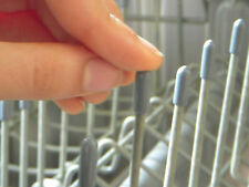 125 Universal Gray Dishwasher Rack Tip Tine Cover Caps  Just Push On to Repair