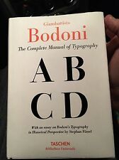The Complete Manual of Typography Bodoni New