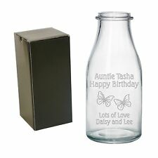 Personalised Engraved Vase Birthday Gifts Mum Mummy Grandma Nan Auntie For Her