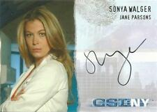 Csi new york series 1 auto carte CSI-NY-A8 sonya Walger comme jane parsons