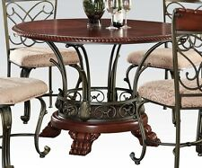 "New Acme ""Omari"" Metal Work Dining Table with 4 Side Chairs #70100"
