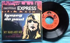 "LYNSEY DE PAUL - MY MAN AND ME - 7"" (Italy 1975) EX-/EX"