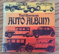 Vintage Tad Burness Auto Album 128 Pages Filko Auto Parts Sticker On Back