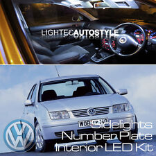 VW BORA 15pc INTERIOR LED CAR LIGHT KIT PURE XENON WHITE BULBS UK SELLER