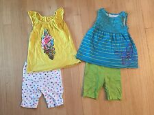 Two Toddler Girls Summer Outfits Bike Shorts And Tank Tops Size 5T