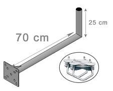 Geländerhalterung 25cm x 70cm SAT Balkon Halterung Mast Geländerhalter L Halter