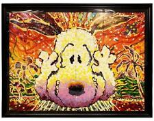 "RARE!!! ""NOBODY BARKS IN LA"" by TOM EVERHART LE PEANUTS LITHOGRAPH! FRAMED MINT!"