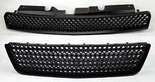 Chevy Impala 06-09 Front Hood & Bumper Upper Lower Matte Black Mesh Front Grill