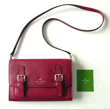 NWOT Kate Spade Allen Street Neil Crossbody Shoulder Bag Red Plum Leather NEW