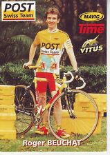 CYCLISME carte  cycliste ROGER BEUCHAT  équipe POST SWISS TEAM