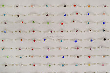Wholesale Mixed Jewelry Lots 30pcs Women's Silver Plated Rhinestone Rings