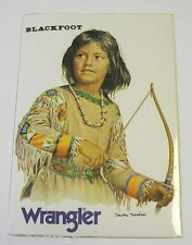 ADESIVO anni '80 / Old sticker BLACKFOOT wrangler (cm 8x12) indian far west