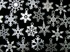 Tibetan Silver Random Mixed Snowflake Xmas Charms Snow Pendants 10 Designs ML