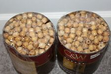 6 POUNDS HUNDREDS of Round Wooden Beads Jewelry Making Finished Charms Crafts