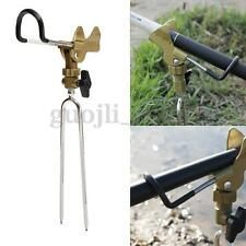 Stainless Steel Fishing Rod Tackle Metal Holder Adjustable Handle Support Stand
