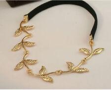 4b 1pc Shiny Gold Leaves Leaf Vine Stretch Head Band Hair Band Headband