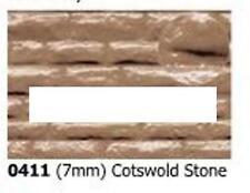 Slaters 0411 0.5mm x 300 x 174mm Cotswold Stone Grey 7mm Plastikard Sheet