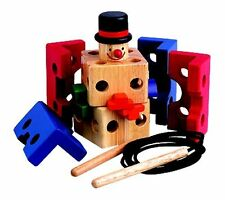 Clown Threading Block Educational wooden toy puzzle    5308