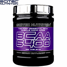 BCAA 6400 125Tablets Branched Chain Amino Acids Whey Protein Pills Muscle Growth