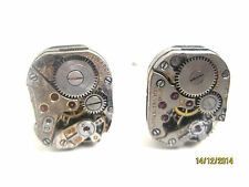 "Antique watch part cufflinks-real rubies-handmade in the USA!-""It's about time"""