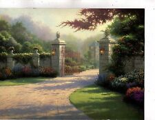 fantasy  landscape  kincade   unframed longest side 11 inches  (199