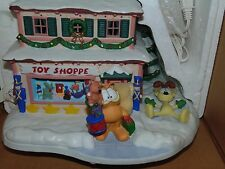 Danbury Mint Garfield's Christmas Village The Toy Shop