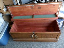 VINTAGE LANE CEDAR WOOD TRUNK HOPE CHEST   42'' X 16'' X 16''