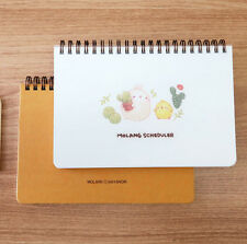 Molang Scheduler Green Cactus Diary Planner Journal Cute Schedule Book Notebook