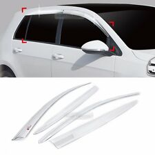 Chrome Window Sun Vent Visor Rain Guards C564 For VOLKSWAGEN 2013-2017 Golf MK7