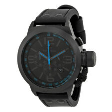 TW Steel Canteen Chronograph Black Dial Leather Mens Watch TW904R